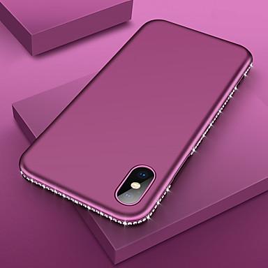 voordelige iPhone 6 hoesjes-luxe bling diamant zachte tpu-telefoonhoes voor iPhone 11 pro max / iphone 11 pro / iphone 11 / xs max xr xs x 8 plus 8 7 plus 7 6 plus 6 sexy strass frame siliconen schokbestendige beschermhoes