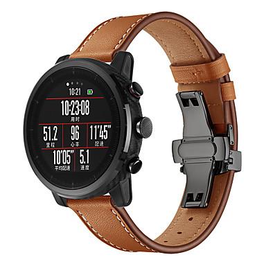 Недорогие Аксессуары для смарт-часов-Ремешок для часов для Часы Хуами Амазфит / Умные часы Huami Amazfit Stratos 2/2S Amazfit Кожаный ремешок Натуральная кожа Повязка на запястье