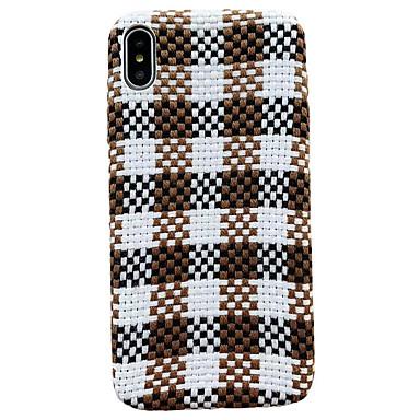 Недорогие Кейсы для iPhone 7 Plus-Кейс для Назначение Apple iPhone XS / iPhone XR / iPhone XS Max Ультратонкий / С узором Кейс на заднюю панель Плюш текстильный / ПК