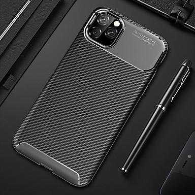 Недорогие Кейсы для iPhone 7-чехол для телефона для iphone 11 pro max мягкий силиконовый задняя крышка из углеродного волокна тпу противоударный чехол для iphone xs max xr x 8 плюс 8 7 плюс 7 6 плюс 6