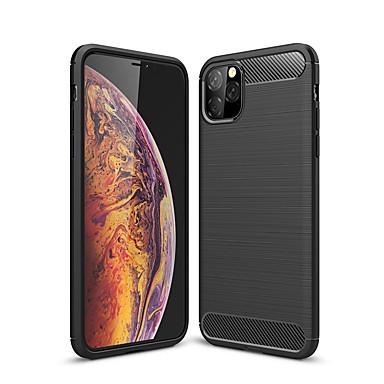 voordelige iPhone-hoesjes-hoesje voor Apple iPhone 11 pro max / xs max / xr / x schokbestendig / stofdicht achterkant effen gekleurde koolstofvezel