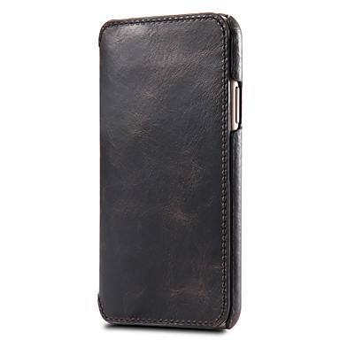 Недорогие Кейсы для iPhone 6-Кейс для Назначение Apple iPhone 11 / iPhone 11 Pro / iPhone 11 Pro Max Бумажник для карт Чехол Однотонный Настоящая кожа