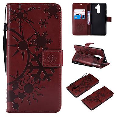Недорогие Чехлы и кейсы для Nokia-Кейс для Назначение Nokia Nokia 9 / Nokia 8 / Nokia 7 Кошелек / Бумажник для карт / Флип Чехол Пейзаж Кожа PU / ТПУ