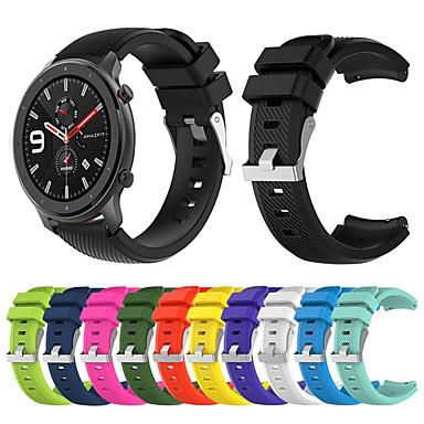 voordelige Smartwatch-accessoires-sport siliconen horlogeband polsband voor xiaomi huami amazfit gtr 47 mm armband polsband vervangbare accessoires