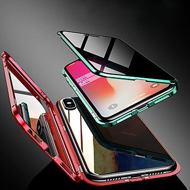 Недорогие Кейсы для iPhone 7 Plus-чехол для яблока iphone xs / iphone xr / iphone xs max / 7 8plus / 7 8 / 6splus / 6s / 6 прозрачный / магнитный чехлы для корпуса сплошное цветное закаленное стекло