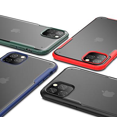 Недорогие Кейсы для iPhone-Кейс для Назначение Apple iPhone 11 / iPhone 11 Pro / iPhone 11 Pro Max Защита от удара / Полупрозрачный Кейс на заднюю панель Однотонный ТПУ / ПК