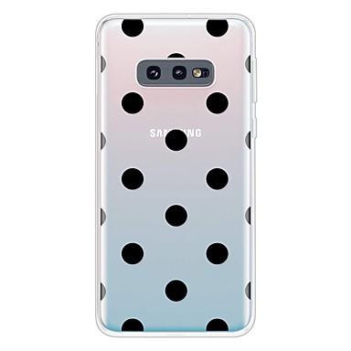 رخيصةأون حافظات / جرابات هواتف جالكسي S-غطاء من أجل Samsung Galaxy Galaxy S10 / Galaxy S10 Plus / Galaxy S10 E نحيف جداً / شفاف / نموذج غطاء خلفي نموذج هندسي TPU