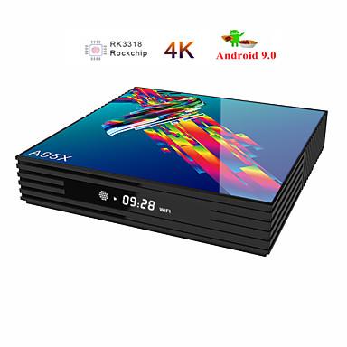 رخيصةأون صناديق التلفاز-a95x r3 rk3318 9.0 android tv box 2 جيجابايت رام 16 جيجابايت 4 كيلو 2.4 جرام / 5 جرام wifi usb3.0 google netflix youtube media player set top box