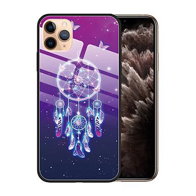 Недорогие Кейсы для iPhone X-Кейс для Назначение Apple iPhone 11 / iPhone 11 Pro / iPhone 11 Pro Max Защита от пыли / С узором Кейс на заднюю панель Цвет неба ТПУ / Закаленное стекло