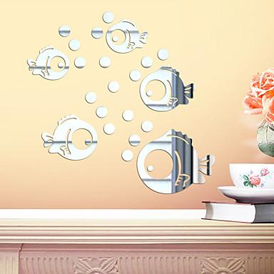 لواصق حائط مزخرفة - لواصق / ملصقات الحائط على المرآة حيوانات / 3D غرفة الأطفال