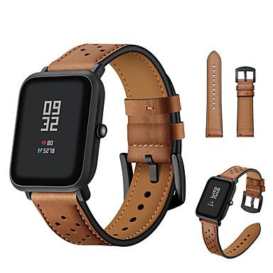 Недорогие Ремешки для часов Huawei-ремешок из натуральной кожи ремешок на запястье для xiaomi huami amazfit gtr 42mm / amazfit bip youth / huawei watch 2 браслет сменный браслет