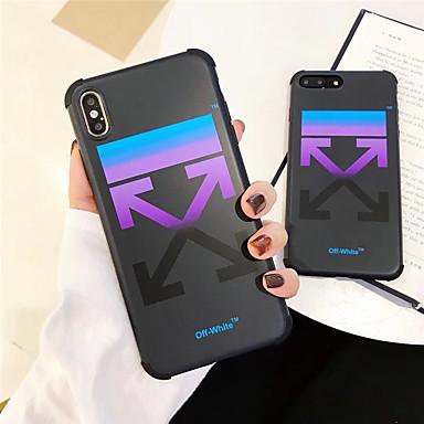 Недорогие Кейсы для iPhone 6-Кейс для Назначение Apple iPhone 11 / iPhone 11 Pro / iPhone 11 Pro Max Защита от удара / Защита от пыли Кейс на заднюю панель Градиент цвета / Слова / выражения ТПУ