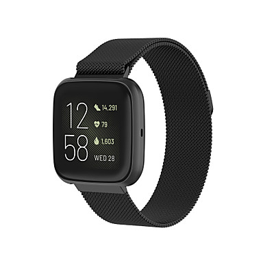 billige Klokkeremmer til Fitbit-Klokkerem til Fitbit Versa / Fitbit Versa Lite / Fitbit Versa 2 Fitbit Milanesisk rem Rustfritt stål Håndleddsrem