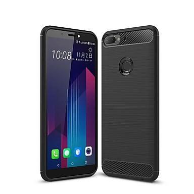 Недорогие Чехлы и кейсы для HTC-чехол для htc desire 11 / htc desire 12 plus / htc u12 plus противоударный / ультратонкий задняя крышка из сплошного цветного углеродного волокна чехол для htc desire 12 / htc ulite