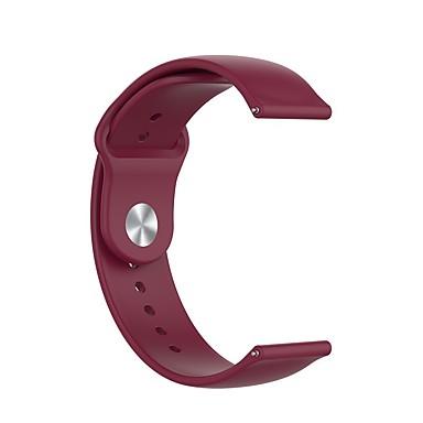 Недорогие Часы для Samsung-ремешок для часов для 18/20 / 22мм классическая пряжка силиконовый ремешок