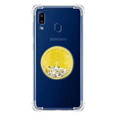 voordelige Galaxy A-serie hoesjes / covers-hoesje voor Samsung Galaxy A7 (2018) / Galaxy A30 (2019) / Galaxy A50 (2019) Schokbestendige / Vloeiende Vloeistof / Transparante Achterkant Glitterglans TPU voor Samsung Galaxy A20E / A40 / A90 / A80
