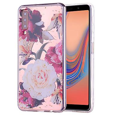 Недорогие Чехлы и кейсы для Galaxy А-Кейс для Назначение SSamsung Galaxy Galaxy A7(2018) / Galaxy A9 (2018) / Galaxy A10 (2019) Защита от удара Кейс на заднюю панель Пейзаж / Мультипликация ТПУ
