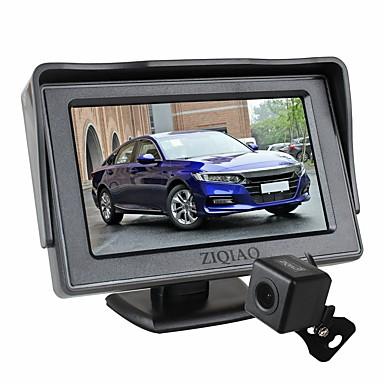 Недорогие Камеры заднего вида для авто-Ziqiao 4,3-дюймовый складной автомобильный монитор TFT ЖК-дисплей камеры парковочная камера заднего вида для автомобильного комплекта мониторов заднего вида