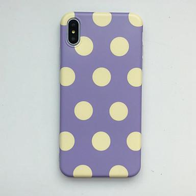 Недорогие Кейсы для iPhone 6-Кейс для Назначение Apple iPhone XS / iPhone XR / iPhone XS Max IMD / Ультратонкий / С узором Кейс на заднюю панель Плитка ТПУ