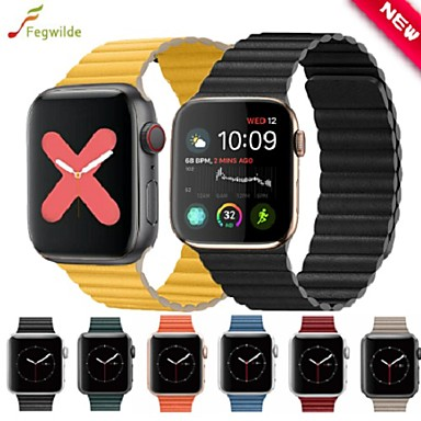 voordelige Apple Watch-bandjes-Horlogeband voor Apple Watch Series 5/4/3/2/1 Apple Sportband Echt leer Polsband