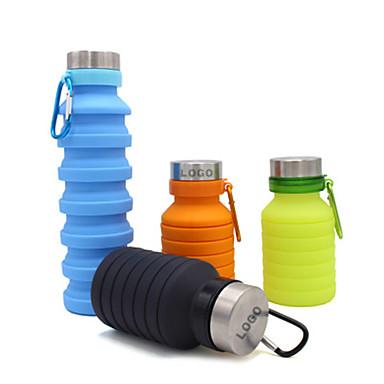 olcso Kemping felszerelések-csésze 550 ml Silica Gel Hordozható Összecsukható mert Kemping Kempingezés / Túrázás / Barlangászat Cross-Country Fekete Barna Zöld Kék