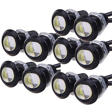voordelige Motorverlichting-10 stks dagrijverlichting bron backup achteruitrijparkeersignaallamp waterdicht 23mm led eagle eye diy cob 12 v