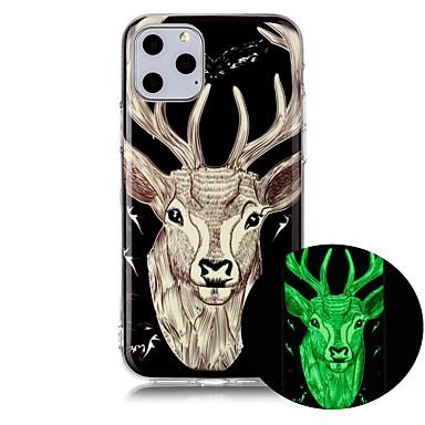 voordelige iPhone 5 hoesjes-hoesje Voor Apple iPhone 11 / iPhone 11 Pro / iPhone 11 Pro Max Glow in the dark / Ultradun / Patroon Achterkant dier TPU