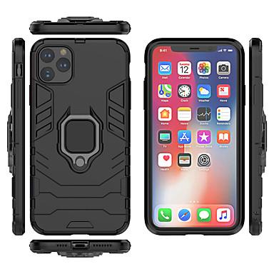 Недорогие Кейсы для iPhone-Кейс для Назначение Apple iPhone 11 / iPhone 11 Pro / iPhone 11 Pro Max Защита от удара / Кольца-держатели Чехол броня ТПУ / ПК / Металл