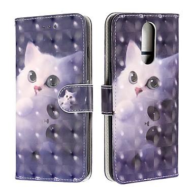 Недорогие Чехлы и кейсы для LG-чехол для lg v50 / lg stylo 5 / lg k40 кошелек / визитница / флип чехлы для всего тела кошка из искусственной кожи для lg q60 / k12 plus / g7 / g7-thinq / g8 / g8 thinq / v50 thinq / k50