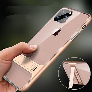 voordelige iPhone-hoesjes-hoesje Voor Apple iPhone 11 / iPhone 11 Pro / iPhone 11 Pro Max met standaard Achterkant Effen TPU / PC