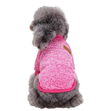 رخيصةأون ملابس وإكسسوارات الكلاب-كلاب كنزة ملابس الكلاب أحمر داكن أزرق فاتح أرجواني كوستيوم فصيل كورجي كلب صيد شبعا اينو الصوف لون سادة أسلوب بسيط موضة XS S M L XL XXL