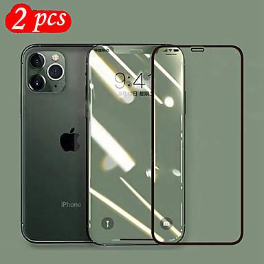 Недорогие Защитные плёнки для экрана iPhone-9h закаленное стекло 6d полная защитная пленка для экрана для iphone 11/11 pro / 11 pro max / x xs xr xs max / 7 8 плюс защитный HD / Blue Ray