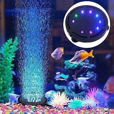 billige Tilbehør til fisk og akvarier-Akvarium lys Dekorationslampe 1pc Fish Tank Light RGB Belysning 100-240 V