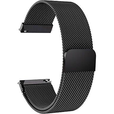 voordelige Smartwatch-accessoires-Horlogeband voor Gear S3 Frontier / Gear S3 Classic / Moto 360 Samsung Galaxy / Huawei / Motorola Milanese lus Roestvrij staal / Stof Polsband