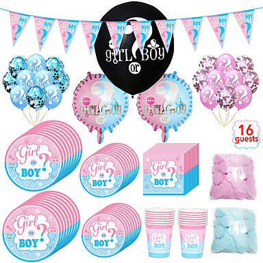 cheap Party Supplies-Party / Birthday Party Accessories Ornaments Splicing Plastic / Pure Paper Classic Theme / Creative / Birthday