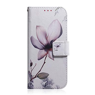 Недорогие Кейсы для iPhone 7 Plus-Кейс для Назначение Apple iPhone 11 / iPhone 11 Pro / iPhone 11 Pro Max Бумажник для карт / Защита от удара / С узором Чехол Цветы ТПУ