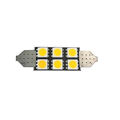voordelige Autobinnenverlichting-1 stks 42mm auto gloeilampen 2 w smd 5050 80 lm 6 led kentekenverlichting / interieur verlichting voor