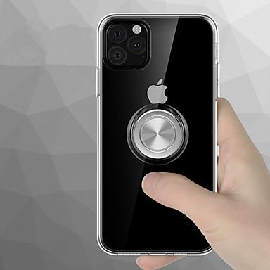 voordelige iPhone X hoesjes-360 rotatie magnetische ringhouder telefoonhoesje voor iPhone 11 pro / iphone 11 pro max / iphone 11 transparante siliconen zachte tpu-hoes voor iphone xs max xr xs x 8 plus 8 7 plus 7 6 plus 6