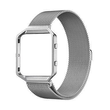 cheap Smartwatch Accessories-Watch Band for Fitbit Blaze Fitbit Milanese Loop Stainless Steel Wrist Strap