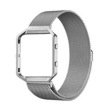 Недорогие Ремешки для спортивных часов-Ремешок для часов для Fitbit Blaze Fitbit Миланский ремешок Нержавеющая сталь Повязка на запястье