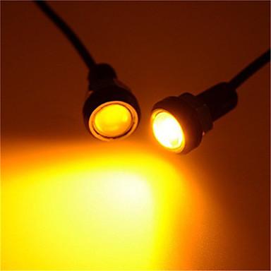 Недорогие Автомобильные фары-Светодиодный орлиный глаз свет drl дневного света строб противотуманные фары 9 Вт 12 В 18 мм задний фонарь парковки сигнальная лампа водонепроницаемый