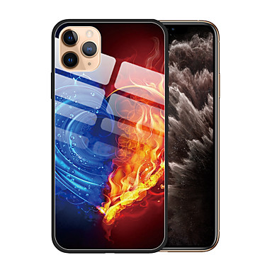 voordelige iPhone-hoesjes-hoesje Voor Apple iPhone 11 / iPhone 11 Pro / iPhone 11 Pro Max Stofbestendig / Patroon Achterkant Kleurgradatie TPU / Gehard glas