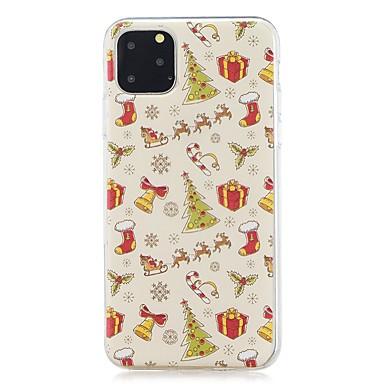 Недорогие Кейсы для iPhone 7-Кейс для Назначение Apple iPhone 11 / iPhone 11 Pro / iPhone 11 Pro Max Защита от удара / Ультратонкий / С узором Кейс на заднюю панель Рождество ТПУ