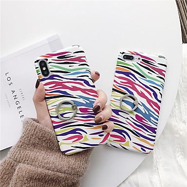 voordelige iPhone 6 Plus hoesjes-hoesje Voor Apple iPhone XS / iPhone XR / iPhone XS Max Ringhouder / Patroon Achterkant Lijnen / golven PC