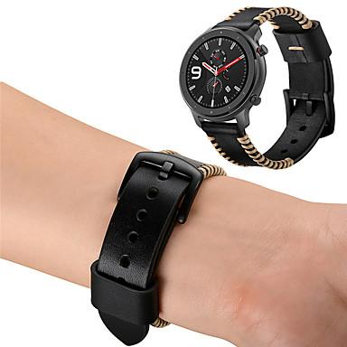 Недорогие Ремешки для часов Huawei-ремешок из натуральной кожи ремешок на запястье для xiaomi huami amazfit gtr 42mm / часы huawei 2 / браслет amazfit gts сменный браслет
