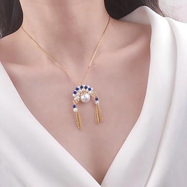olcso Medál nyakláncok-Női Édesvízi gyöngy Nyaklánc medálok Gyöngy Arany 45 cm Nyakláncok Ékszerek 1db Kompatibilitás Napi
