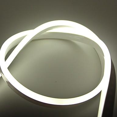 رخيصةأون شرائط ضوء مرنة LED-5m شرائط قابلة للانثناء لأضواء LED 600 المصابيح أبيض / أحمر / أزرق إبداعي / تصميم جديد / خلفية التلفزيون 110 V 1SET