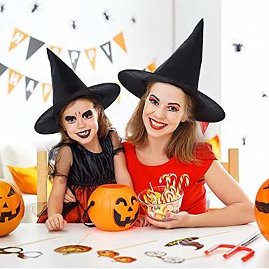 القبعات السوداء الساحرة المهزلة قبعة المهزلة حزب تأثيري هالوين حفلة تنكرية ديكور قبعة أعلى
