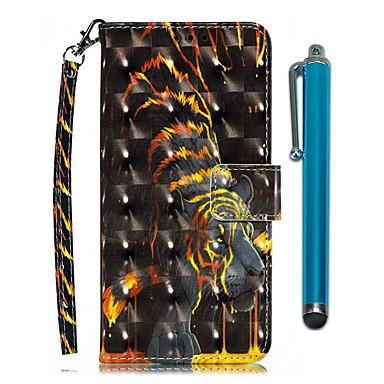 Недорогие Чехлы и кейсы для Nokia-чехол для nokia 7.1 / nokia 5.1 / кошелек nokia 5.1 plus / держатель для карты / с подставкой для всего тела чехлы из искусственной кожи золотистого тигра для nokia 3.1 plus / nokia 1 plus / nokia 4.2