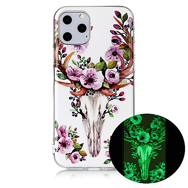 voordelige iPhone 6 hoesjes-hoesje Voor Apple iPhone 11 / iPhone 11 Pro / iPhone 11 Pro Max Glow in the dark / Ultradun / Patroon Achterkant dier TPU